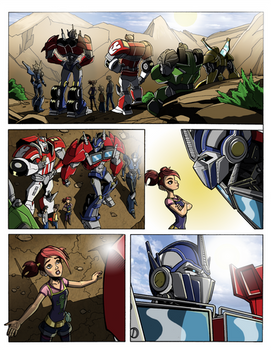 Transformers Prime: Titan Magazines Tryout Colours