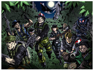 Official GI Joe Con Night Force Lithograph Colours