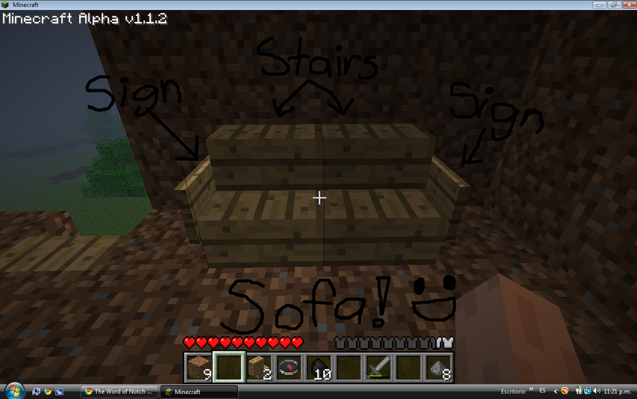 how to make a couch in minecraft pe