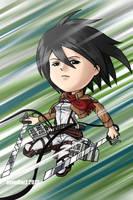 chibi Fanart: Mikasa Ackerman by avimHarZ