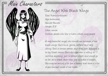 Character bio: The Angel with Black Wings by avimHarZ
