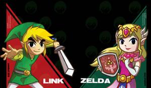 Fanart: Link and Princess Zelda by avimHarZ