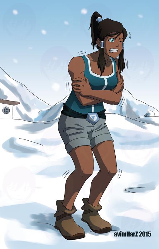 Fanart Commission: Freezing Korra by avimHarZ