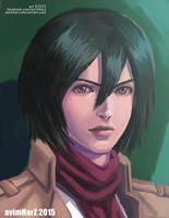 Fanart: Mikasa Ackerman portrait by avimHarZ