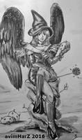 OC: Witch Angel by avimHarZ