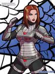 Commission: Black Widow by avimHarZ