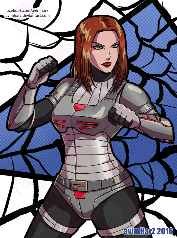 Commission: Black Widow by avimHarZ
