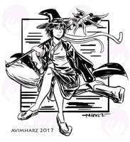 Quick Sketch: Witch Avi | #witchsonaweek by avimHarZ