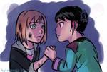 Quick Sketch: Nora and Ren (RWBY fanart) by avimHarZ