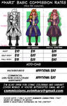 Commission prices March 2017
