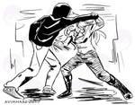 Practice fight sketch no. 8