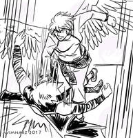 Quick Sketch: Silver fight sketch no. 1 by avimHarZ