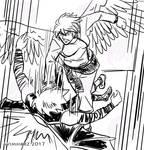 Quick Sketch: Silver fight sketch no. 1