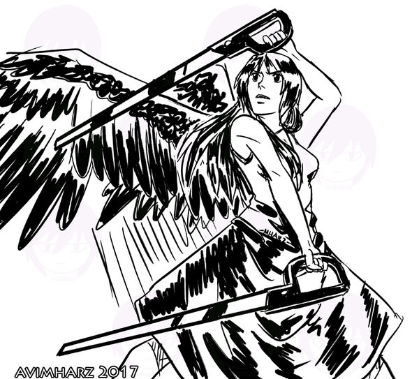 Quick Sketch: Angel fight sketch no. 2 by avimHarZ