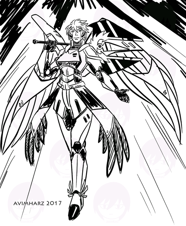 Quick Sketch: Mecha Silver by avimHarZ