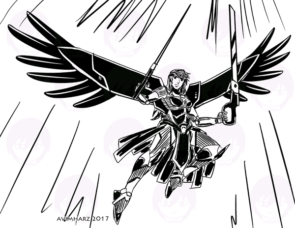 Quick Sketch: Mecha Angel by avimHarZ