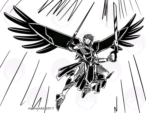 Quick Sketch: Mecha Angel by avimHarZ