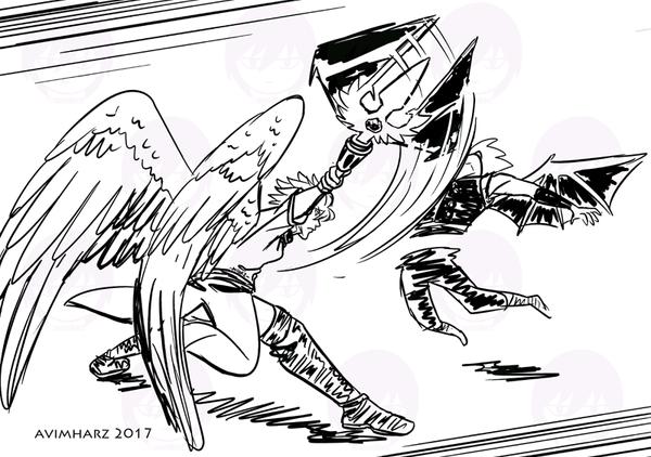 Quick Sketch: Silver slash by avimHarZ