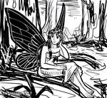Quick Sketch: The Fairy with Black Wings