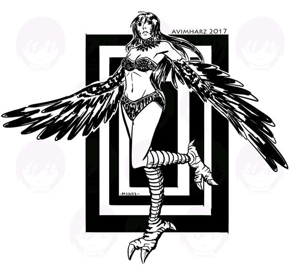Quick Sketch: Harpy Angel by avimHarZ