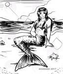 Quick Sketch: Mermaid Angel by avimHarZ