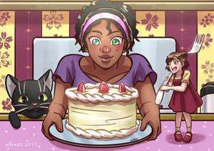 Commission - Kara, Naomi and Pancakes