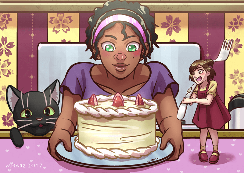 Commission - Kara, Naomi and Pancakes by avimHarZ