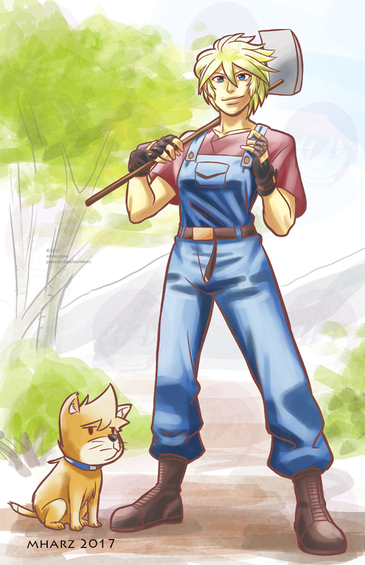 Farmer Silver (Inspired from Stardew Valley) by avimHarZ