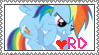 Rainbow Dash Stamp *edit* by CritterInvasion