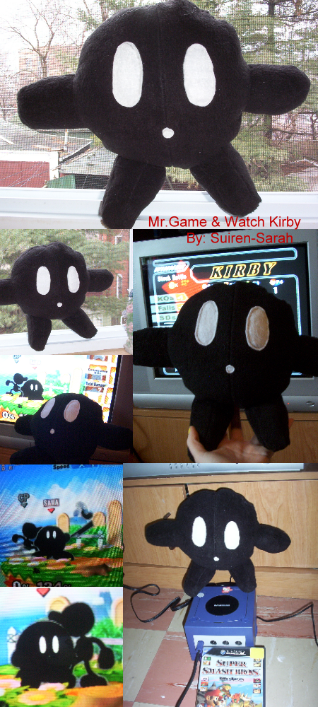 Mr Game And Watch Bacon Mr.game and watch kirby by ~suiren-sarah on
