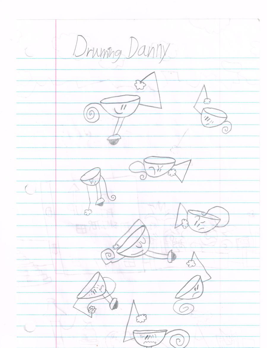 danny the drum sketches by thecrazyworldofjack