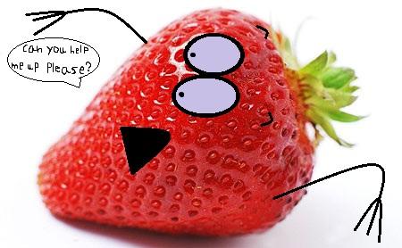 strawberry on the side by thecrazyworldofjack