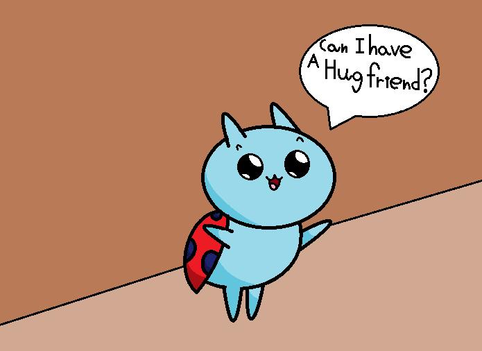 Catbug hug by thecrazyworldofjack