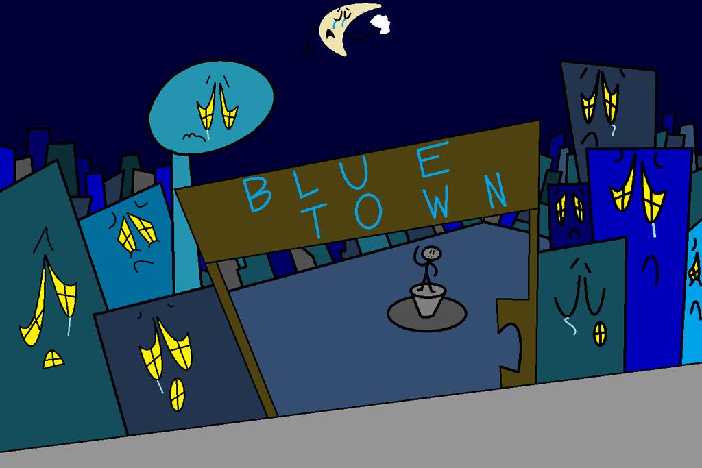 Blue Town by thecrazyworldofjack