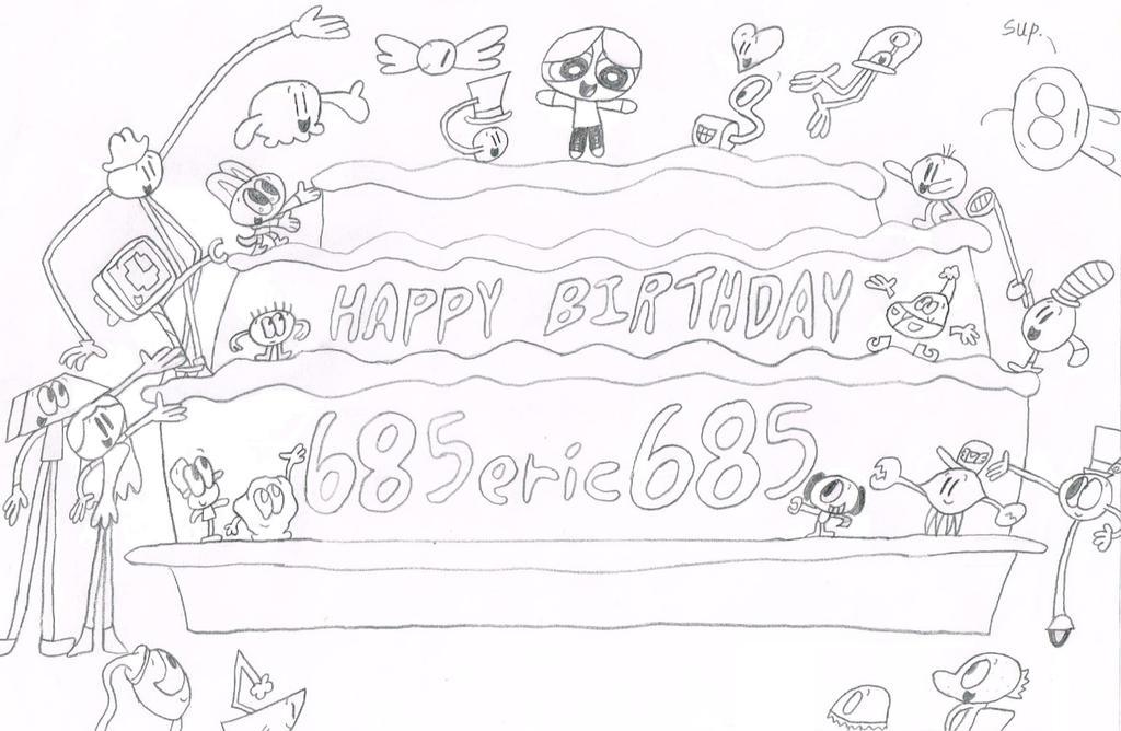 Happy Birthday 685eric685 by thecrazyworldofjack