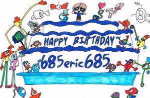 Happy Birthday 685eric685 (Colored) by thecrazyworldofjack