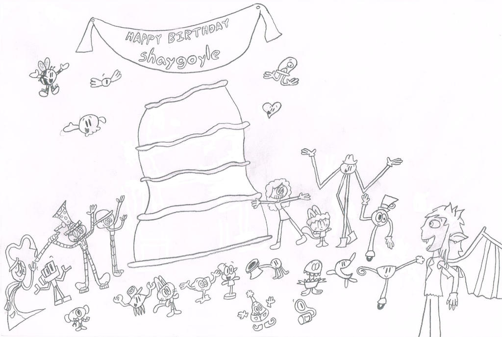 A Gift for shaygoyle (Sketch) by thecrazyworldofjack