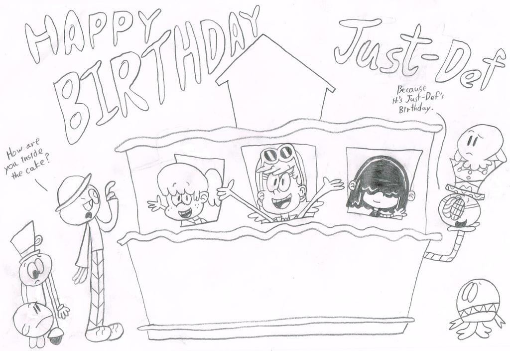 Happy Birthday Just-Def by thecrazyworldofjack