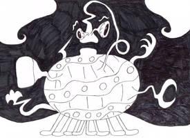 Huffingtober 9, Wazzle the Mangled-Monster by thecrazyworldofjack