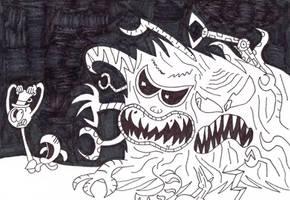 Huffingtober 11, Two Faced Snatcher by thecrazyworldofjack