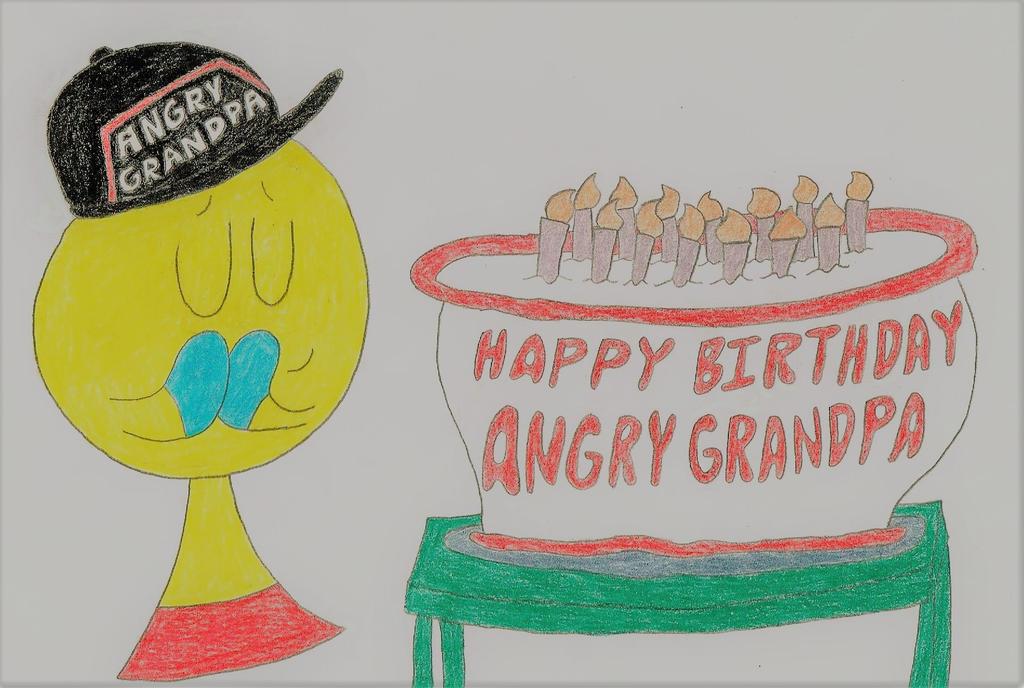Happy Birthday Angry Grandpa by thecrazyworldofjack