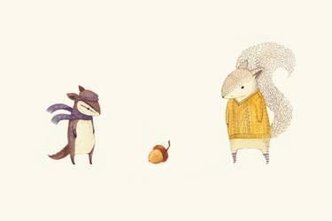 the last acorn of autumn by teaganwhite
