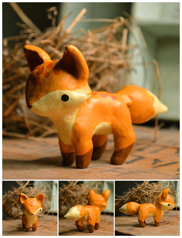 fox figurine by teaganwhite