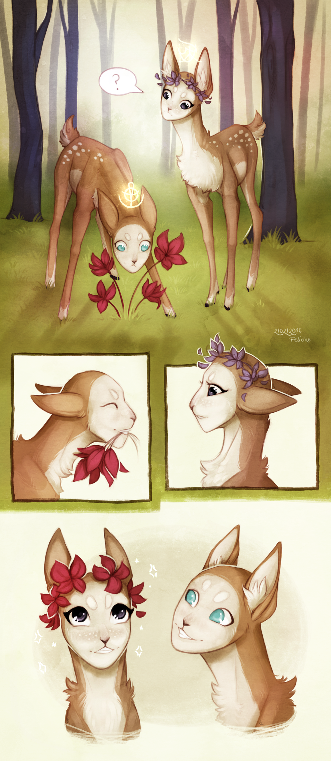 Deviantart Flower Crown A Fawn Friend And A Flower Crown By