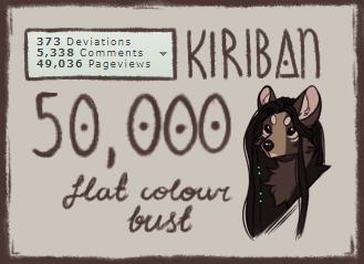 Kiriban 50,000 by Felidre