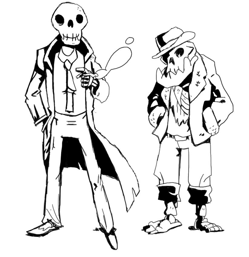 Skeleton Boys by scythepuppet