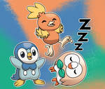 Pokemon Starters Birds