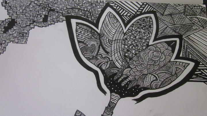 Traditional Flower Line Drawing : Doodle art flower by ghaidamd on deviantart