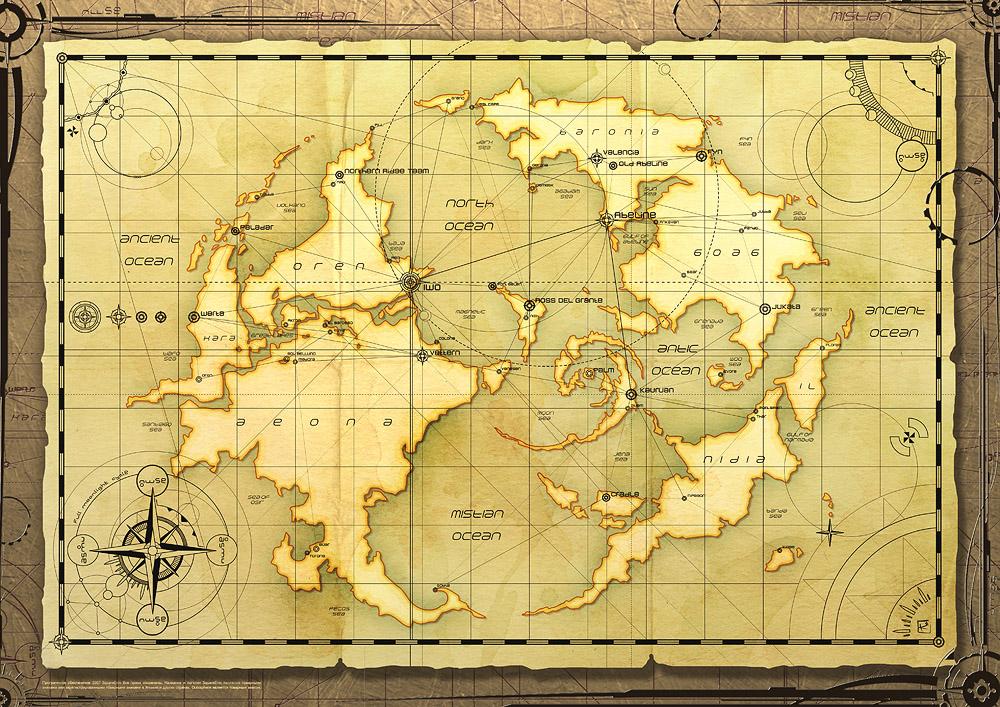 Blank Fantasy World Maps