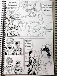 Ssgss GokuGolden Freeza vs Kale